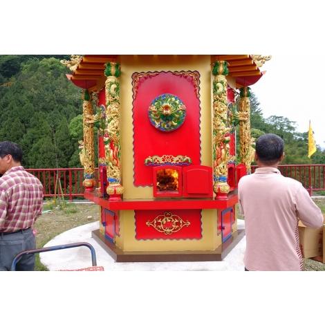 新社 龍鳳山壇開爐儀式-環保金爐